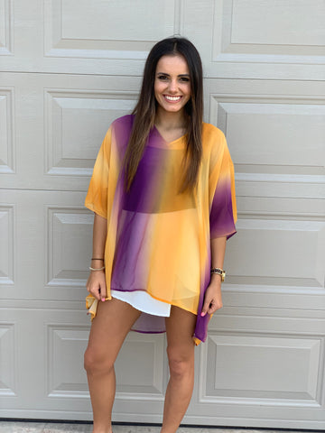 Ombre Game day Tunic
