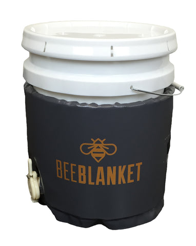 BB05GV - Bee Blanket 5 Gallon Pail Heater w/Cutout for Gate Valve, Fixed Thermostat 110°F, 120V, 120 Watts,