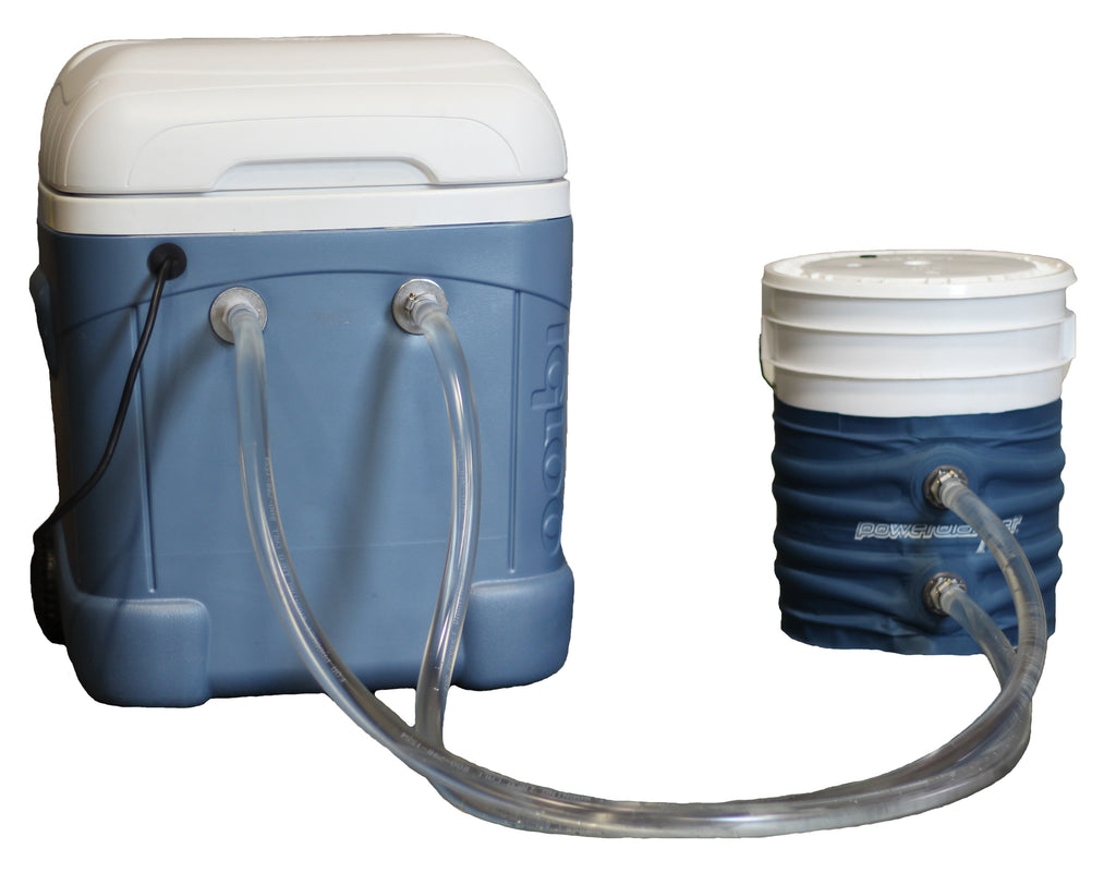 PBICE05-FC-IC Powerblanket ICE 5-Gallon Bucket Cooling Fluid Channel Blanket with Modified Cooler Box & Pump