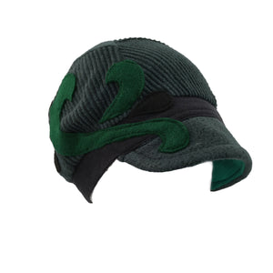Hat, Green & Black Cap