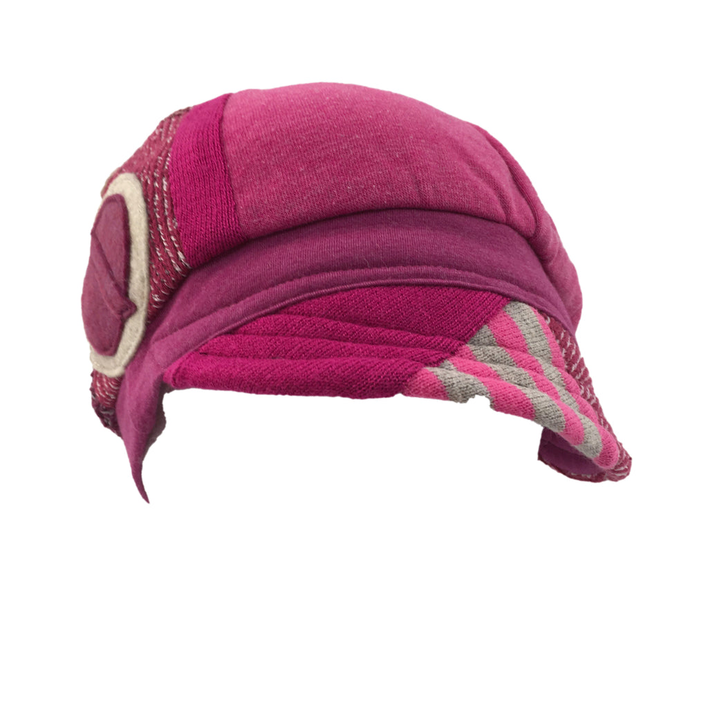 Hat, Pink & Grey Cap
