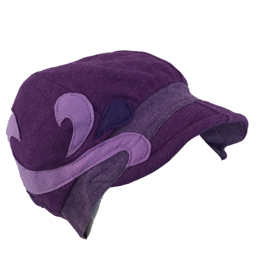 Hat, Purple & Lavender Cap