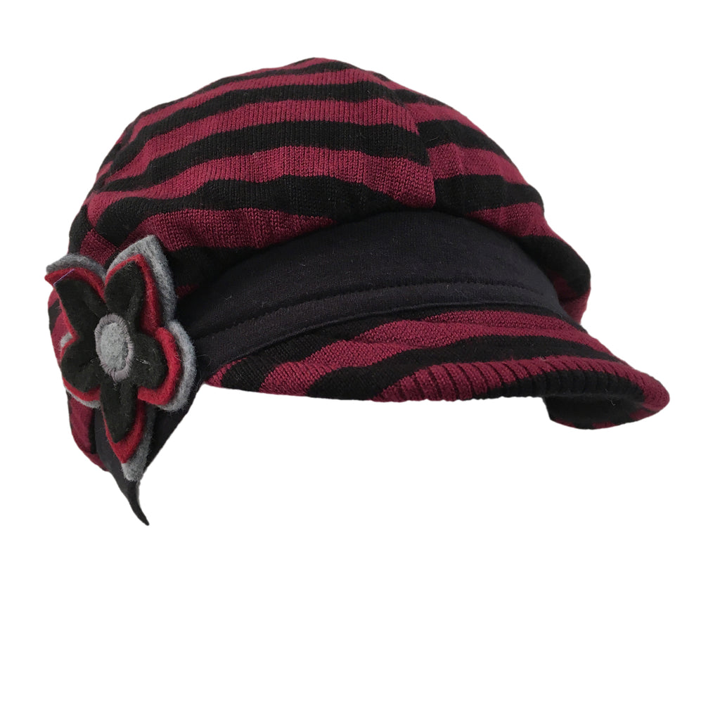 Hat, Merlot & Black Cap