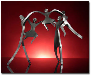 Family of 5 Dancers Sculpture