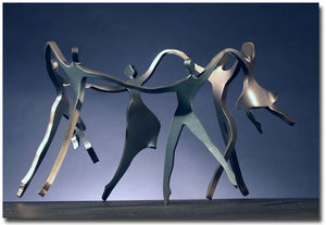 Family of 6 Dancers Sculpture