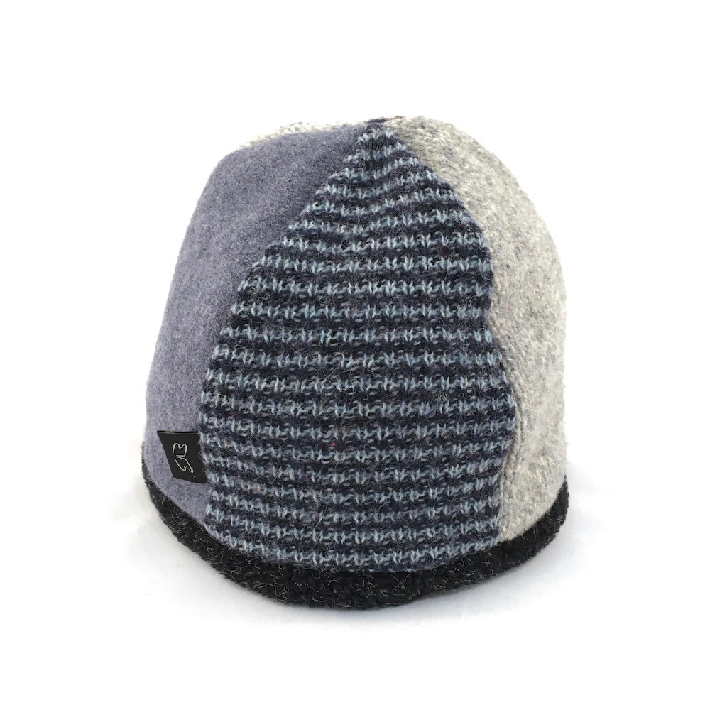 Hat Beanie in Blues & Gray