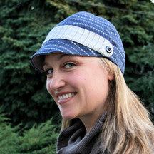 Bella Hat, Blue w/Buttons