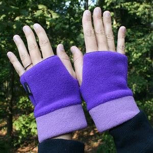 Wristies Cuffs Purple & Mulberry, Adult Small