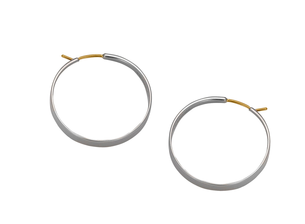 Classic Forged Hoop Earrings