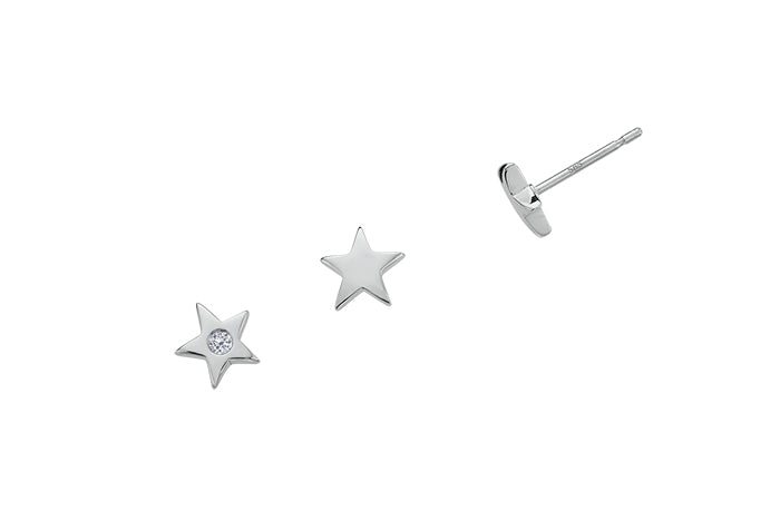 Twinkle Earrings with Diamonds