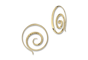 Crop Circle Hoop Earrings