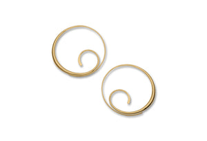 Scrolling Hoop Earrings