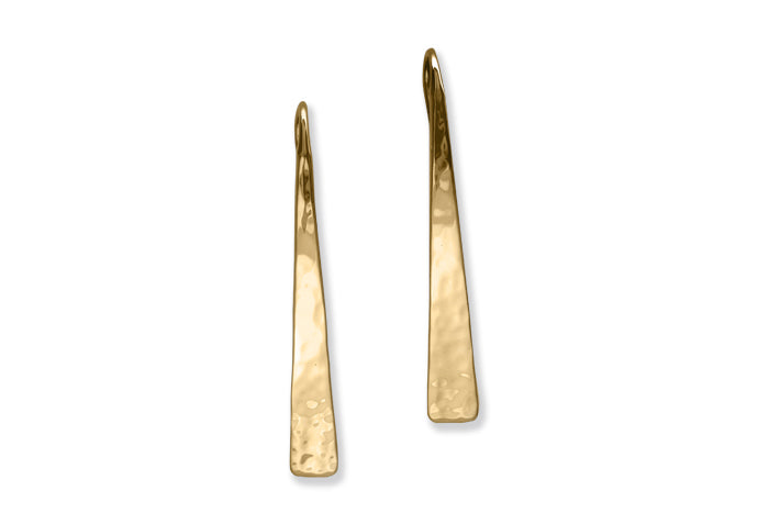 Hammered Taper Earrings