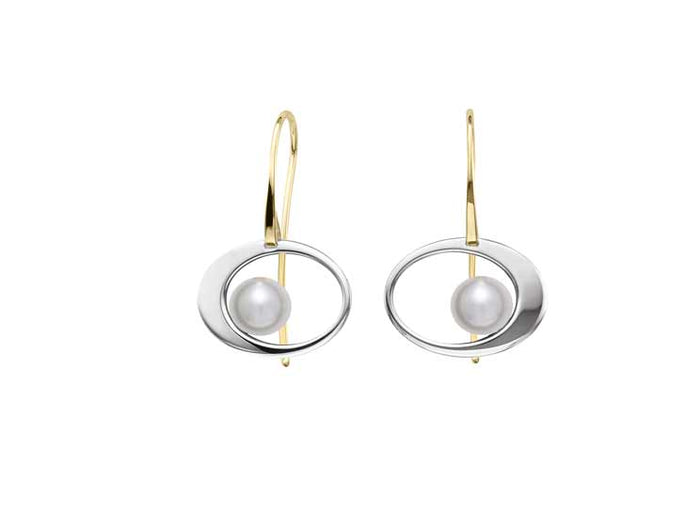 Paper Moon Earrings w/Pearl