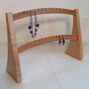 Earring Stand, Maple & Bamboo