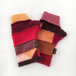 Fingerless Gloves in Rosy Bright Colors