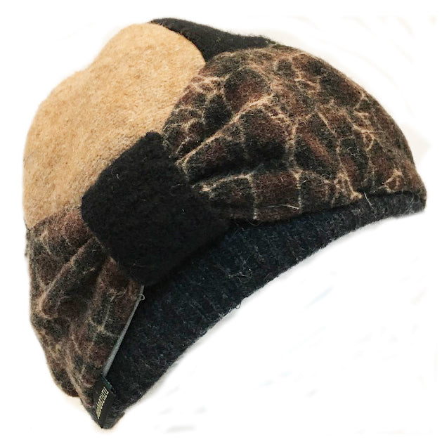 Bow Hat w/Animal Print