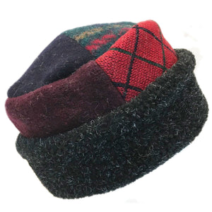 Hat Pillbox w/Red & Navy
