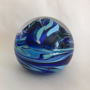 Paperweight, Blue Marble