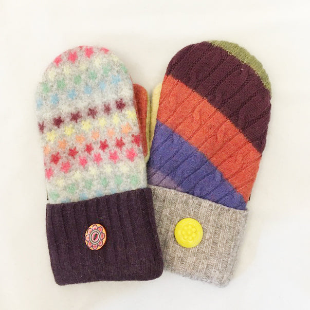 Mittens in Happy Stars & Bright Colors