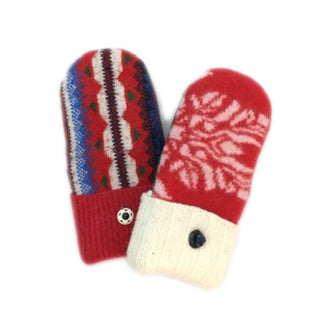 Mittens in Red & Winter White
