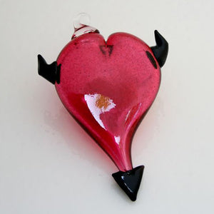 Ornament, Heart w/Devil Horns