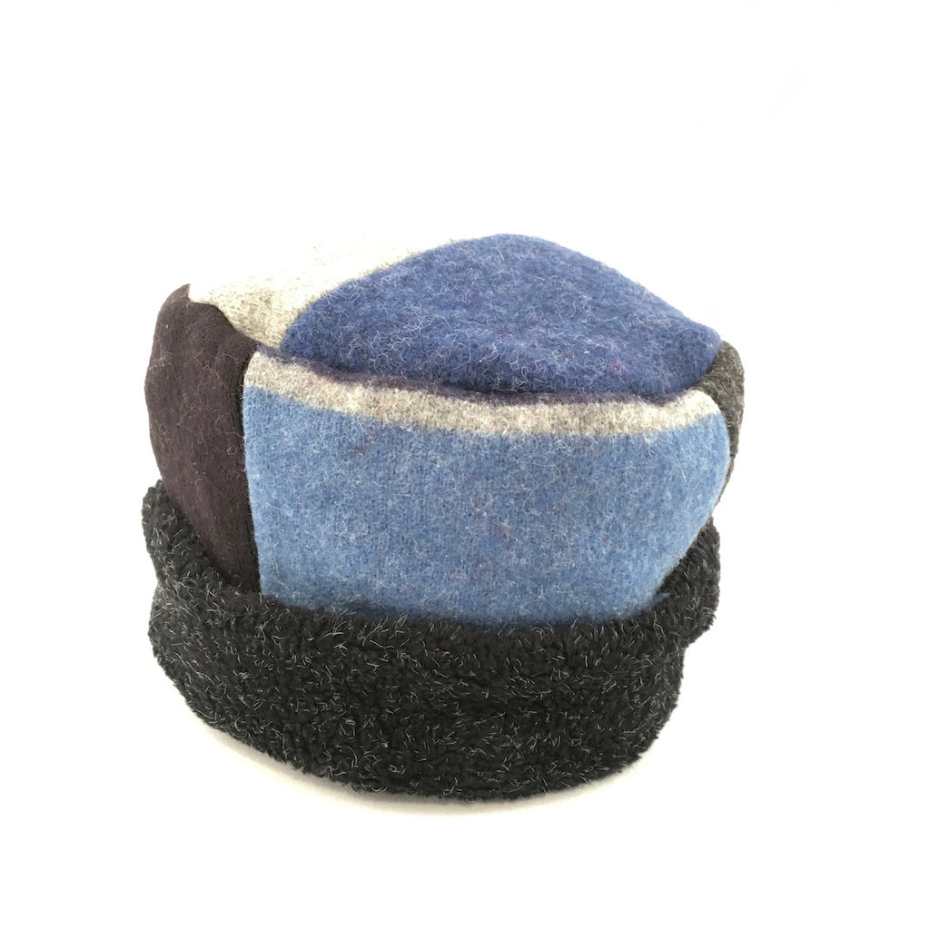 Hat Pillbox in Denim & Naturals
