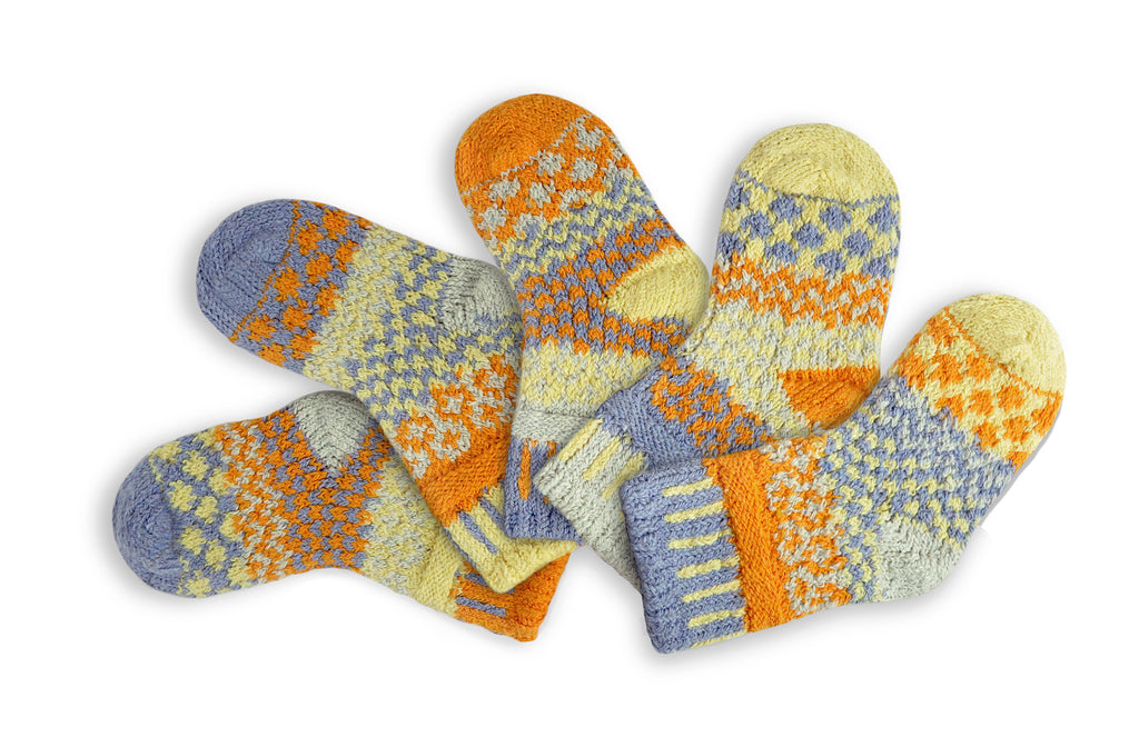 Solmate Baby Socks Puddle Duck, New for 2019. Sz 6-12mo & 12-24mo
