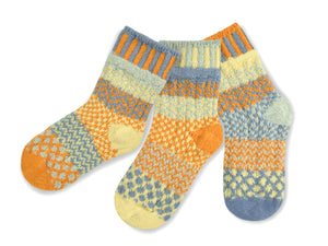 Solmate Kids Socks Exciting New Puddle Duck, New for 2019
