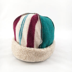 Hat Seamed with Cheerful Stripes