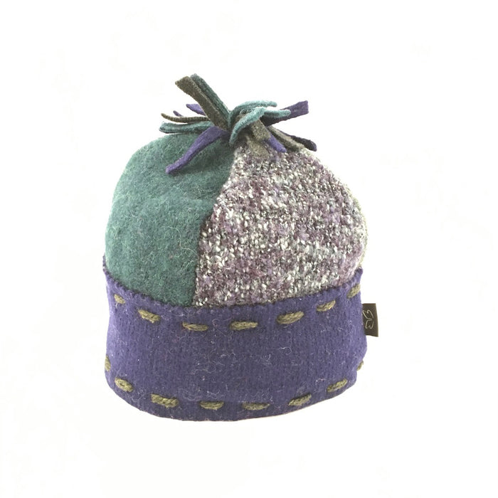 Hat Ski in Soft Green & Purples