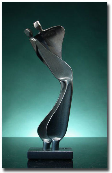 Intimate Tango Dancers Sculpture
