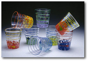 Wavie Ware Juice Glasses: TEMPORARILY UNAVAILABLE