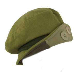Hat, Green & Khaki Knit