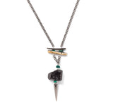 Tourmaline and abalone necklace