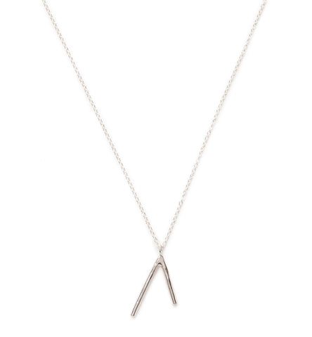 silver dart necklace at maeree