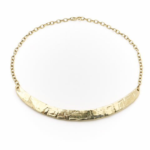 Odette New York lunate brass choker maeree