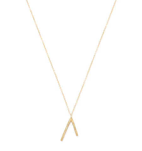 brass dart necklace at maeree