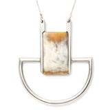 Indego Africa horn and tin necklace maeree