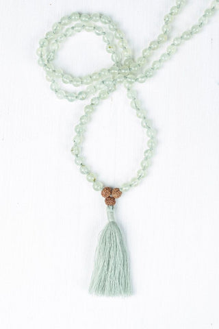 i am enlightened prehnite mala maeree mala collective