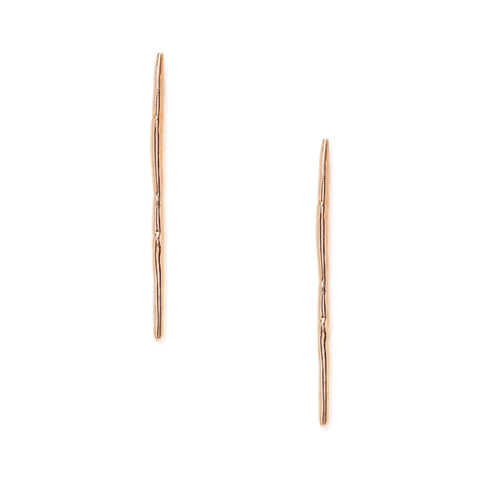 satomi studio rose gold needle studs at maeree