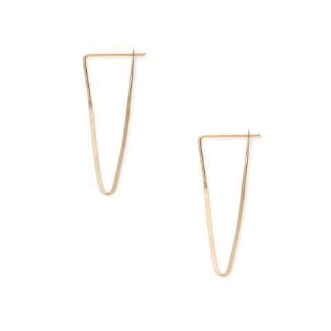 Satomi gold hoop earrings at maeree