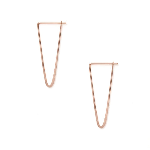 Satomi Studio rose gold peak hoop earrings at maeree