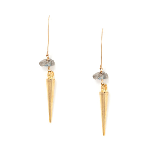 gold drop earrings at maeree