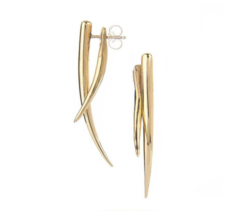pico brass tusk earring at maeree