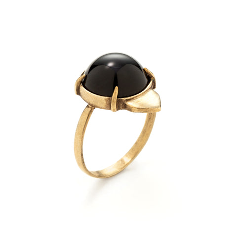 collette ishiyama onyx owl ring at maeree