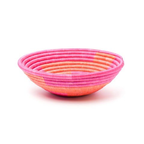 indego africa fuchsia and orange zig zag basket at maeree