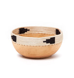 African wood and grass arrow bowl