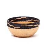african wood and grass bowl