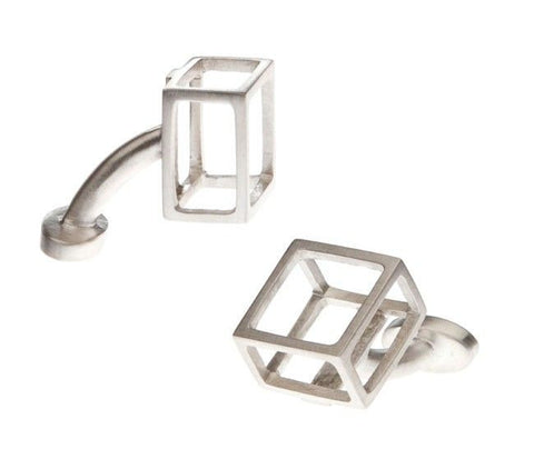 gifts for him cube cufflinks at maeree